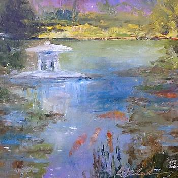Koi pond by Bobbie Frederickson