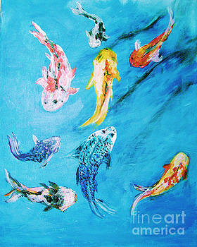 Swimming Koi Fish From the Water Series by Donna Dixon