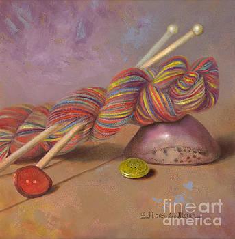 Koigu Yarn with Buttons by Nancy Lee Moran