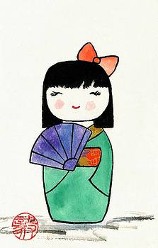 Kokeshi Doll by Terri Harris