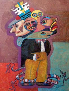 Kokopelli and Everyman by MtnWoman Silver