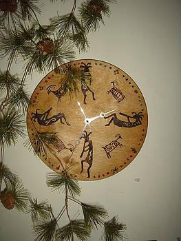 Kokopelli Clock by Dakota Sage