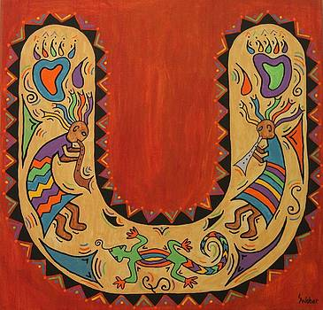 Kokopelli Horseshoe by Susie WEBER