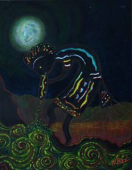 Kokopelli in Moonlight by William Bezik