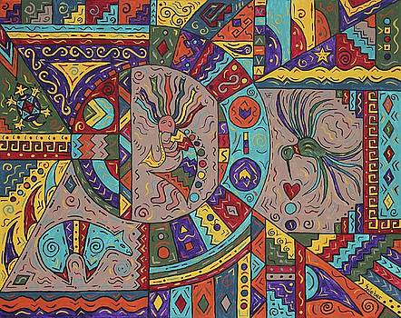 Kokopelli Mandala by Susie WEBER