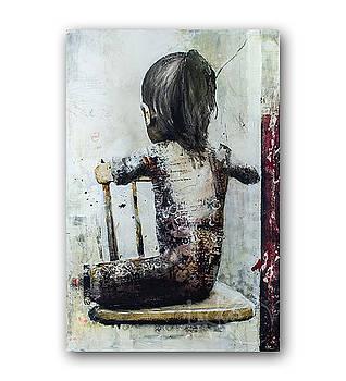 Kollageflickan by Tomas Lacke