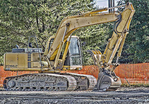Komatsu Excavator by Richard Bean