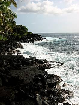 Kona Hawaii Black lava shore by Halle Treanor