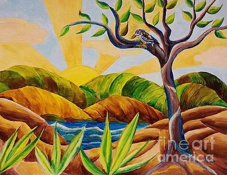 Kookaburra Landscape by Judy Via-Wolff