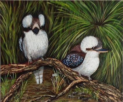 Kookaburras by Renate Voigt