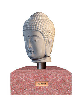 Buddha sculpture - Korean by Terrell Kaucher
