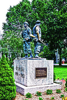 Korean Vietnam Memorial Milford Center by Frank Feliciano