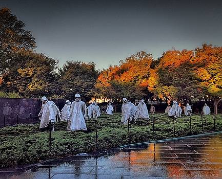 Korean War Memorial in Washington DC by Victoria Porter