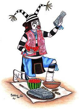 Koshari Clown Kachina by Alfred Dawahoya