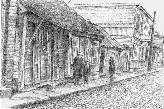 Kovno Street Scene 2 by Sidney Orlovitz
