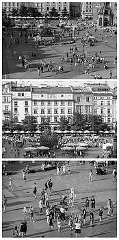 Krakow Poland Main Square Triptych by Steve Gadomski