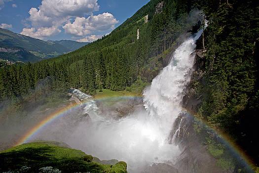 Aivar Mikko - Krimml Waterfall and Rainbow