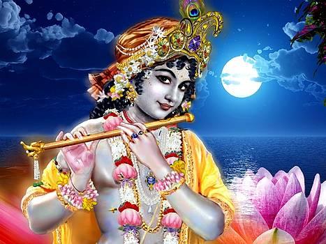 Krishna Lotus by Khalil Art