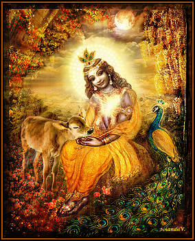 Krishna with the Calf by Ananda Vdovic