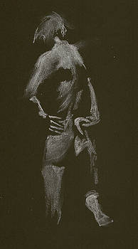 Kroki 2015 01 10_7 Figure Drawing White Chalk by Marica Ohlsson