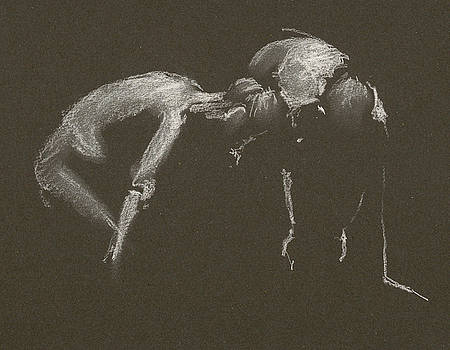 Kroki 2015 04 25 _1 Figure Drawing White Chalk by Marica Ohlsson