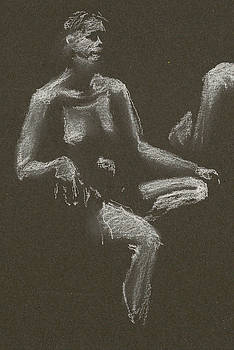 Kroki 2015 04 25 _3 Figure Drawing White Chalk Beskuren by Marica Ohlsson