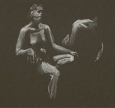 Kroki 2015 04 25 _3 Figure Drawing White Chalk by Marica Ohlsson