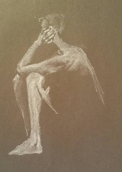 Kroki 2015 06 18_9 Figure Drawing White Chalk by Marica Ohlsson