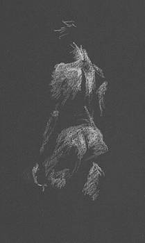 Kroki 2015 09 26 _3 Figure Drawing White Chalk by Marica Ohlsson