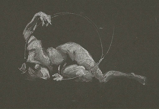 Kroki 2015 10 03_14b Figure Drawing White Chalk by Marica Ohlsson