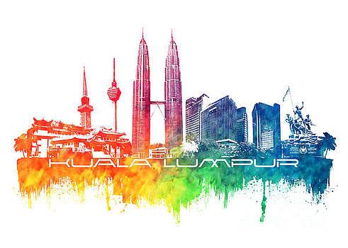 Justyna Jaszke JBJart - Kuala Lumpur skyline city color