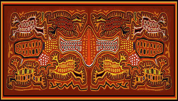 Kuna Indian Demon Spirits by Vagabond Folk Art - Virginia Vivier