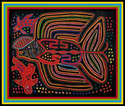 Kuna Indian Flying Fish  by Vagabond Folk Art - Virginia Vivier