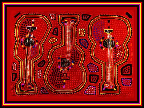 Kuna Indian Guitars by Vagabond Folk Art - Virginia Vivier