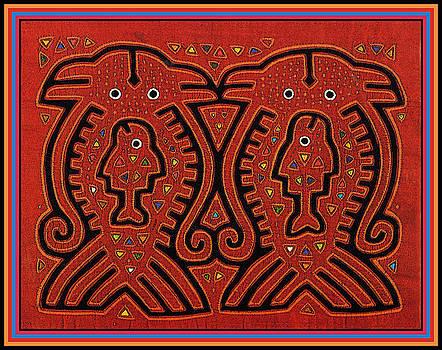 Kuna Indian Skate Fish by Vagabond Folk Art - Virginia Vivier
