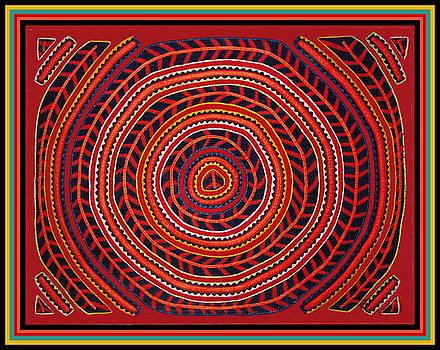 Kuna Indian Sun Universe by Vagabond Folk Art - Virginia Vivier