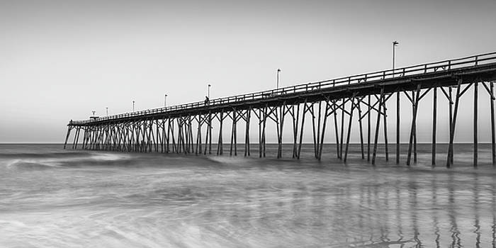 Ranjay Mitra - Kure Beach Fishing Pier Black and White Panorama