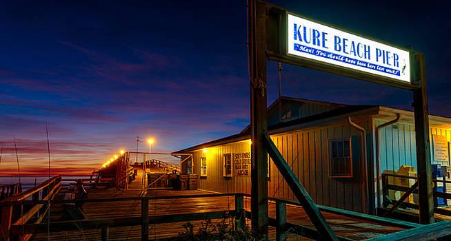 Kure Beach Pier at Sunrise by Nick Noble