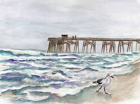Kure Beach Pier by Bev Veals