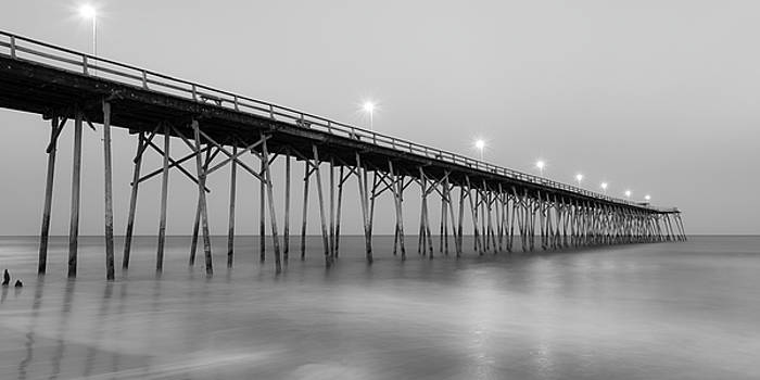 Ranjay Mitra - Kure Fishing Pier Black and White Panorama