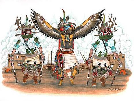 Kwahu and  Deer Kachinas by Lavelle Mahle