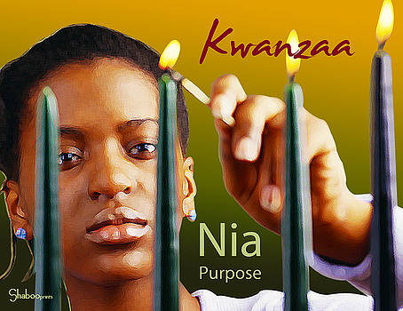 Kwanzaa Nia by Shaboo Prints