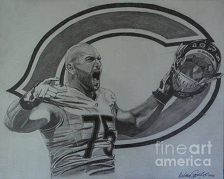 Kyle Long of the Chicago Bears by Melissa Goodrich