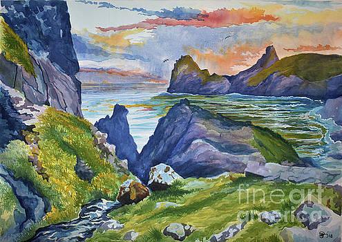 Kynance Cove Nocturne by Ashley Jennings