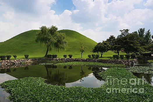 Kyongju, Tumuli Park by Andrew Michael
