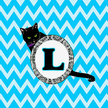 L Cat Chevron Monogram by Paintings by Gretzky