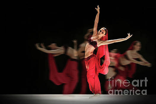 La Bayadere Ballerina in red tutu ballet by Dimitar Hristov