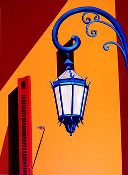 LA BOCA STREET LAMP with SHUTTERS by JoeRay Kelley