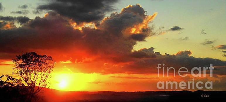 Felipe Adan Lerma - la Casita Playa Hermosa Puntarenas Costa Rica - Sunrise A Two Panorama