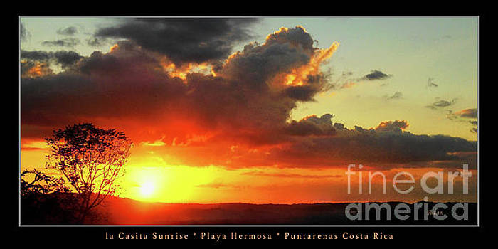 Felipe Adan Lerma - la Casita Playa Hermosa Puntarenas Costa Rica - Sunrise A Two Panorama Poster Greeting Card